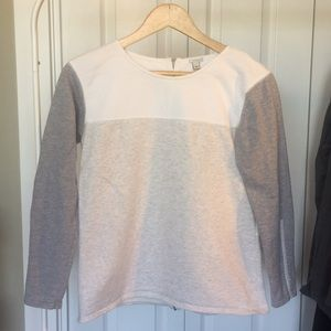 J Crew size XS back zip color-block sweatshirt